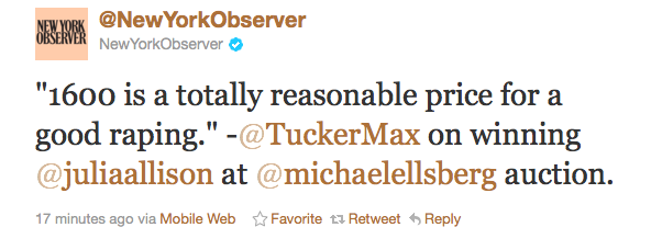Paleo Tucker Max Tweet The Paleo Problem with Racism and Sexism